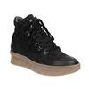 Kožená kotníčková obuv se šněrováním bata, černá, 596-6673 - 13