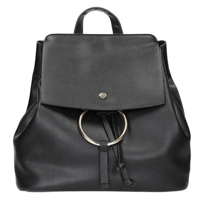 Dámský městský batoh se zlatými detaily bata, černá, 961-6166 - 26