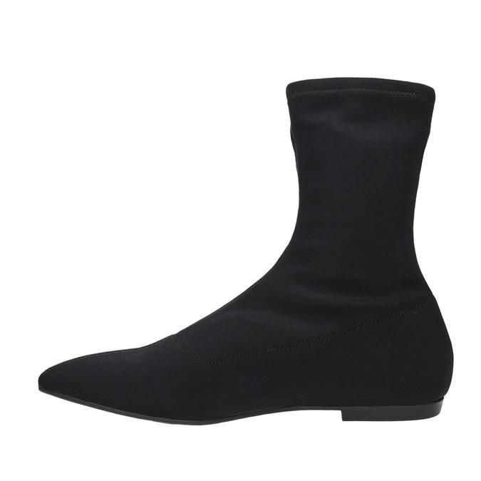 Černé dámské kozačky vagabond, černá, 519-6015 - 26