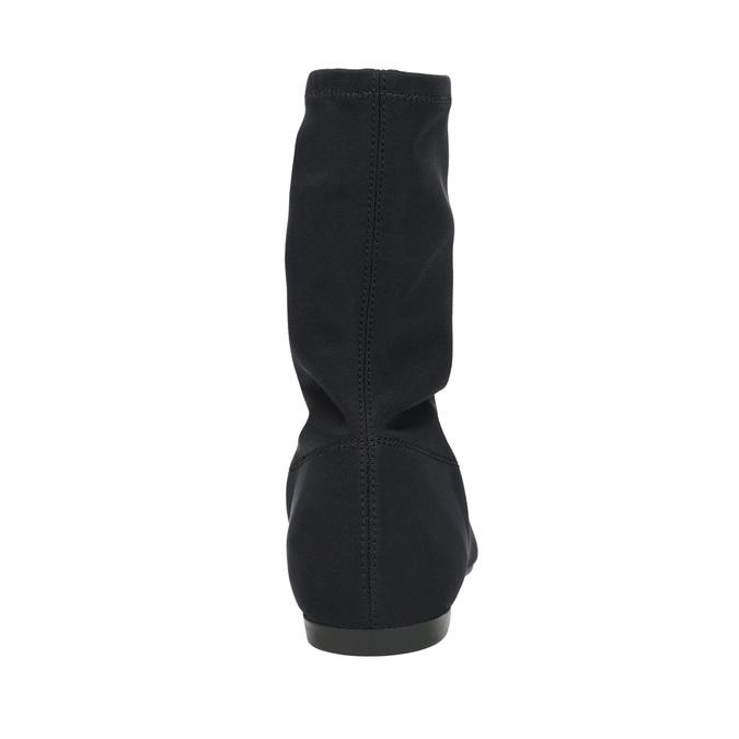 Černé dámské kozačky vagabond, černá, 519-6015 - 17