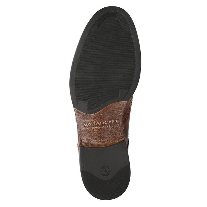 Dámské kožené Brogue polobotky vagabond, hnědá, 524-4009 - 19