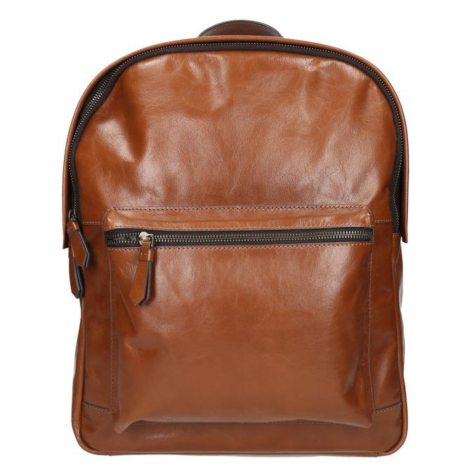 Kožený pánský batoh bata, hnědá, 964-4278 - 17