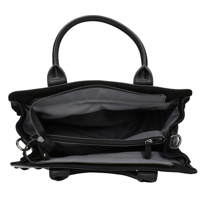 Kožená dámská kabelka fredsbruder, černá, 963-6002 - 15