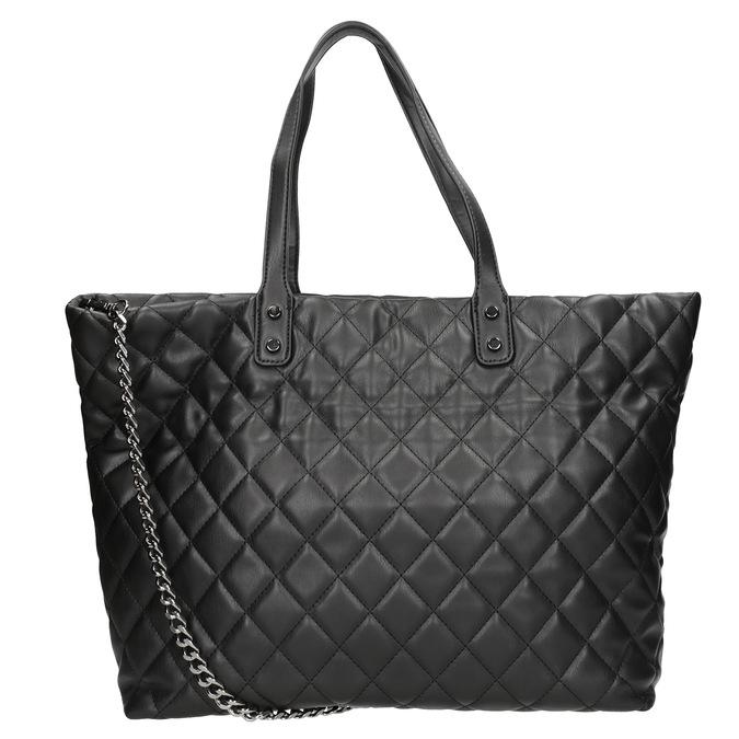 Prošívaná kabelka s řetízkem bata, černá, 961-6139 - 16