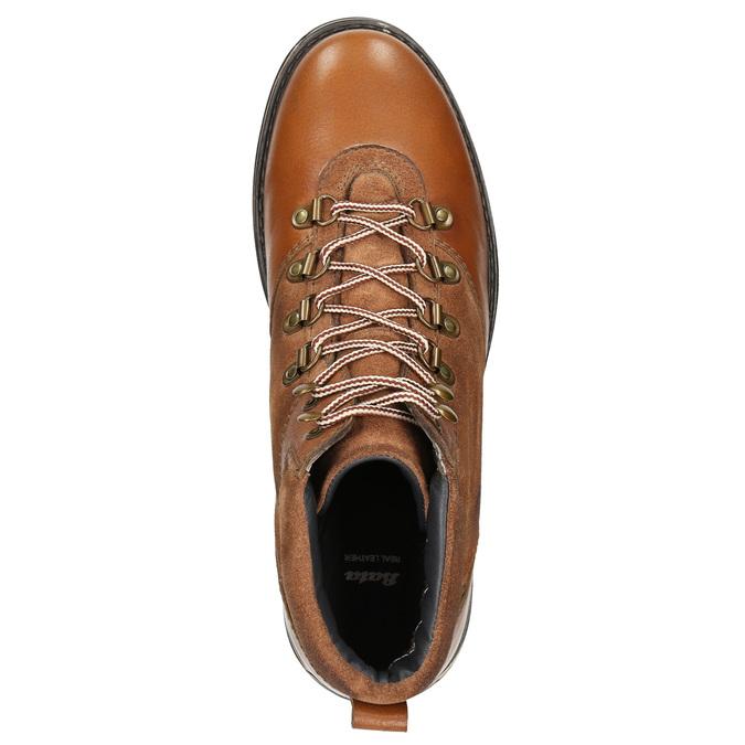 Kožená pánská zimní obuv bata, hnědá, 896-4668 - 26