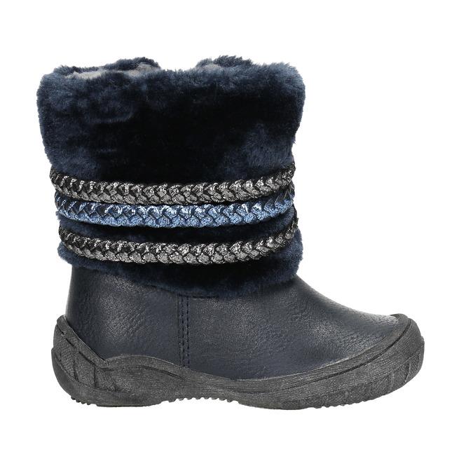 Dětská zimní obuv se zateplením bubblegummers, modrá, 191-9620 - 15