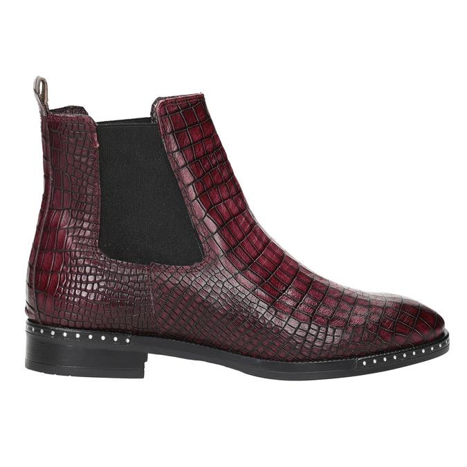 Kožená dámská Chelsea obuv bata, červená, 596-5678 - 26