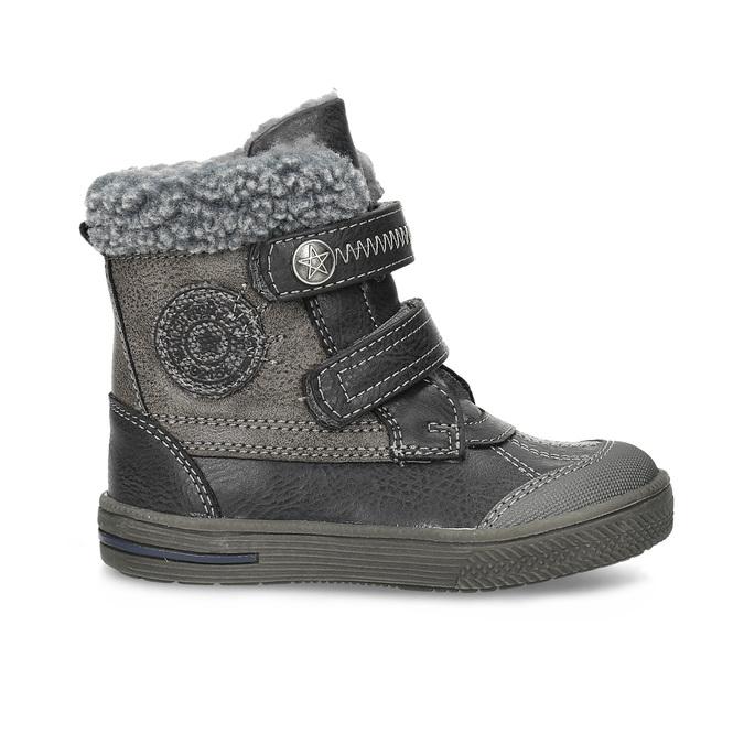 Dětská zimní obuv se zateplením bubblegummers, šedá, 191-4619 - 19