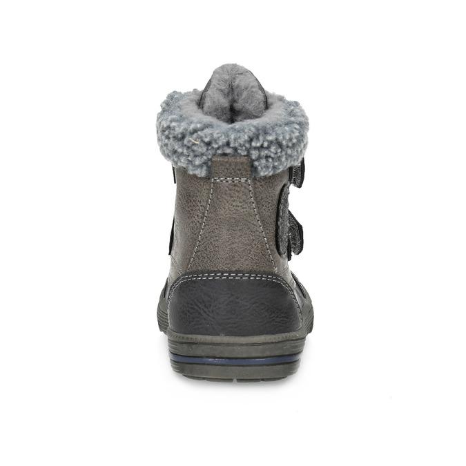 Dětská zimní obuv se zateplením bubblegummers, šedá, 191-4619 - 15