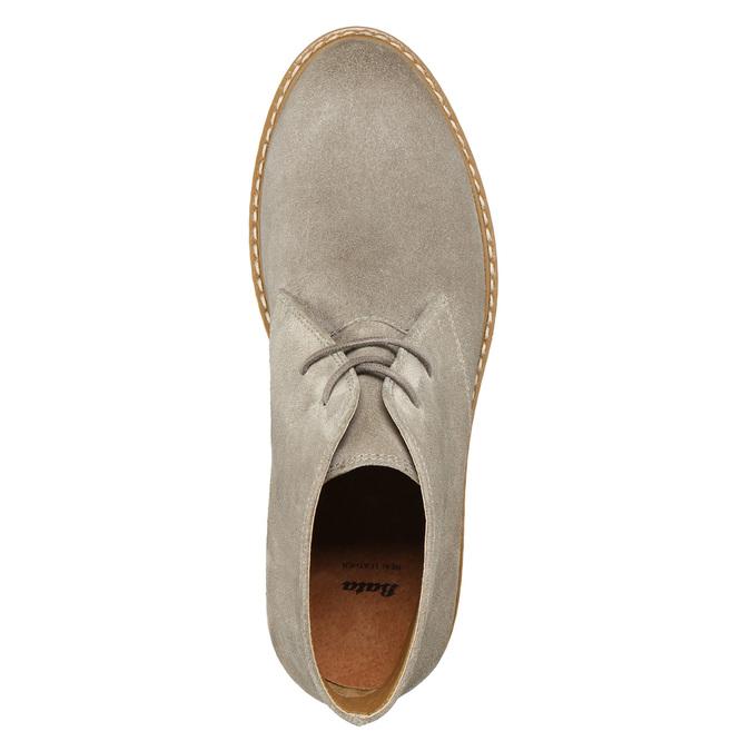 Dámské kožené Desert Boots bata, šedá, 593-2608 - 26