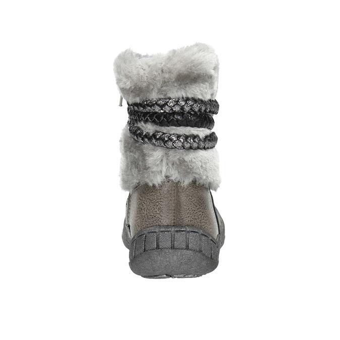 Dětská zimní obuv s kožíškem bubblegummers, šedá, 191-2620 - 17