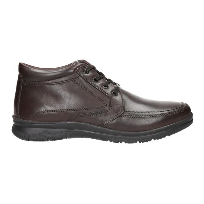 Kožená pánská zimní obuv comfit, hnědá, 894-4686 - 15