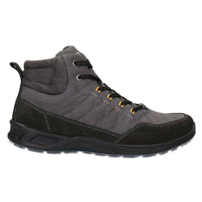 Pánská kožená Outdoor obuv weinbrenner, šedá, 846-2647 - 26