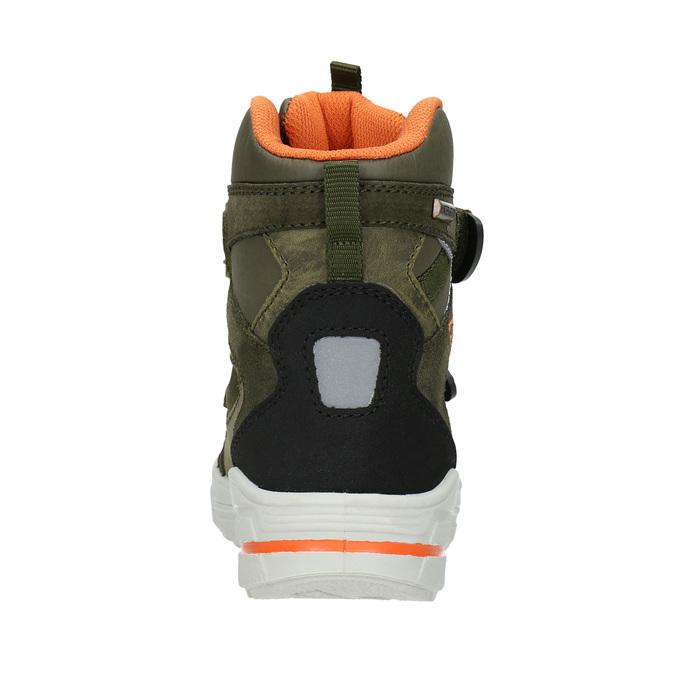 Dětká zimní obuv z kůže weinbrenner-junior, zelená, 493-7612 - 16