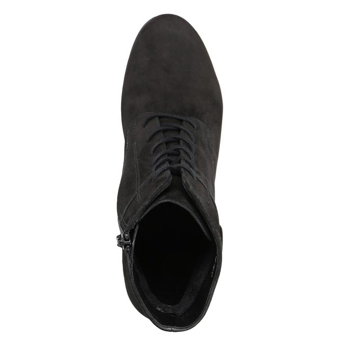 Kožená kotníčková obuv šněrovací gabor, černá, 726-6120 - 15