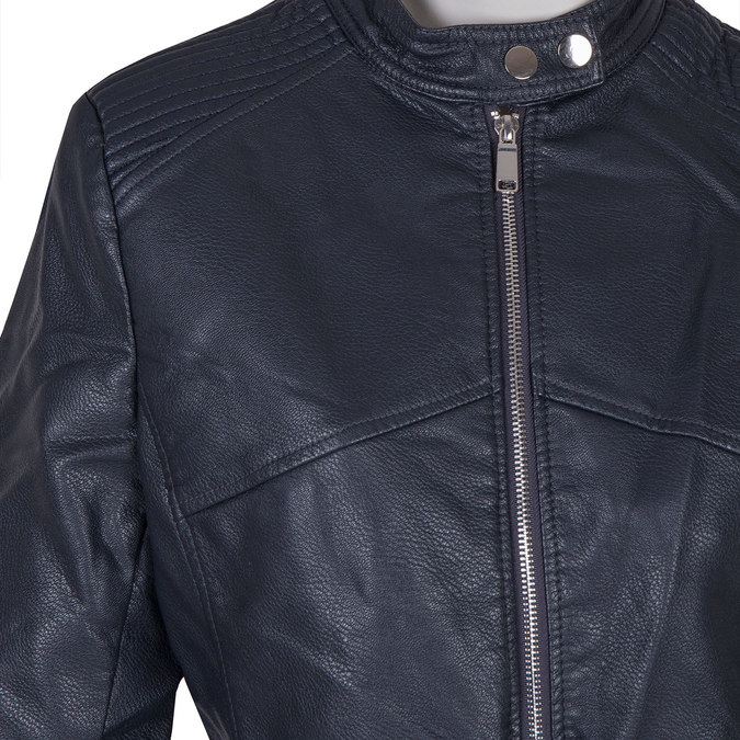 Dámská bunda s prošitím bata, modrá, 971-9203 - 16
