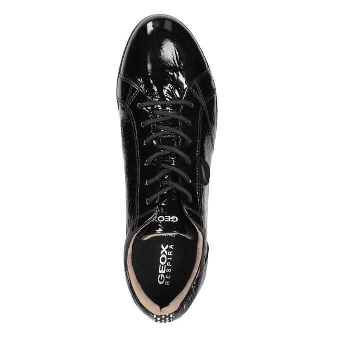 Černé kožené tenisky geox, černá, 528-6083 - 15