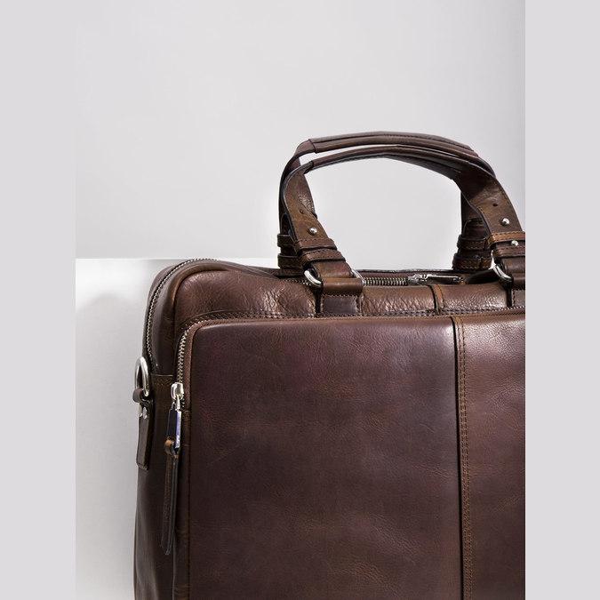 Kožená taška bata, hnědá, 964-4106 - 14