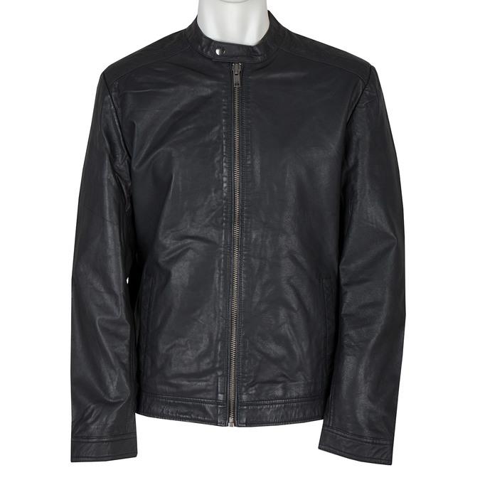 Kožená pánská bunda bata, černá, 974-6171 - 13