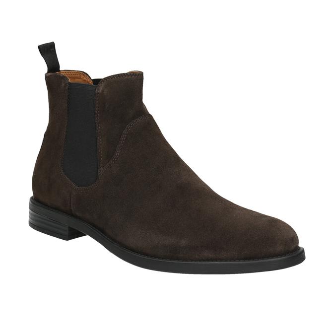 Pánská kožená Chelsea obuv vagabond, hnědá, 813-4019 - 13