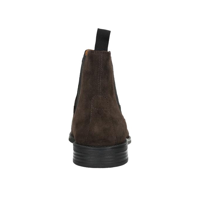 Pánská kožená Chelsea obuv vagabond, hnědá, 813-4019 - 16