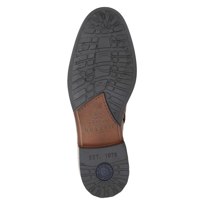 Pánská kožená kotníčková obuv bugatti, hnědá, 816-4044 - 17