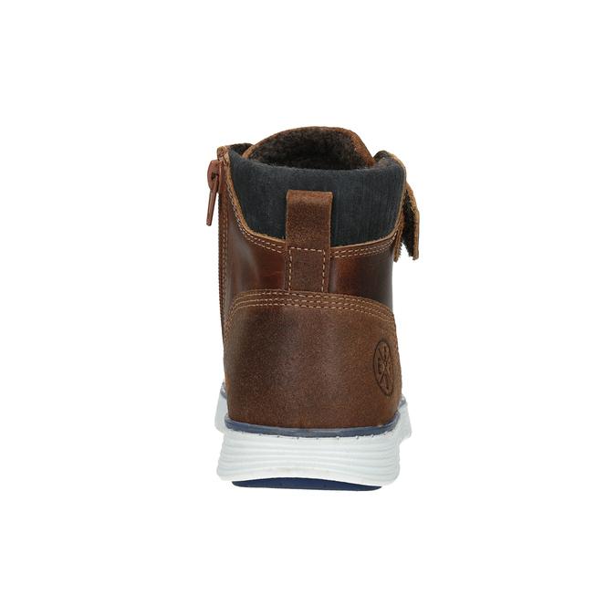Dětská kožená kotníčková obuv bullboxer, hnědá, 494-3024 - 16