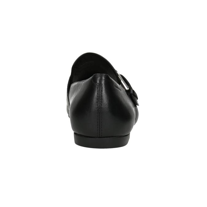 Kožené dámské mokasíny s přezkou vagabond, černá, 514-6017 - 16