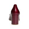 Kožené lodičky na stabilním podpatku hogl, červená, 728-5056 - 16