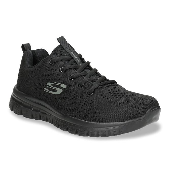 Černé sportovní tenisky s perforací skechers, černá, 509-6318 - 13