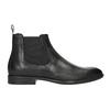 Pánská kožená Chelsea obuv vagabond, černá, 814-6024 - 26