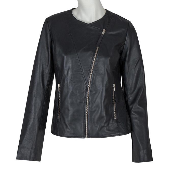 Dámská kožená bunda bata, černá, 974-6177 - 13