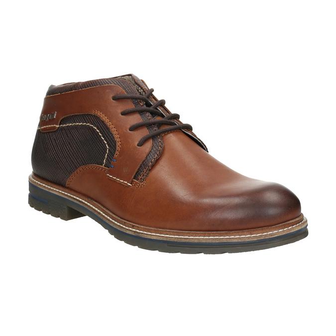 Kožená kotníčková obuv bugatti, černá, 824-6010 - 13