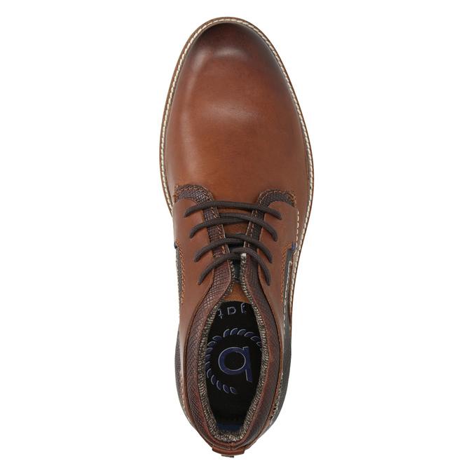 Kožená kotníčková obuv bugatti, hnědá, 824-6010 - 15