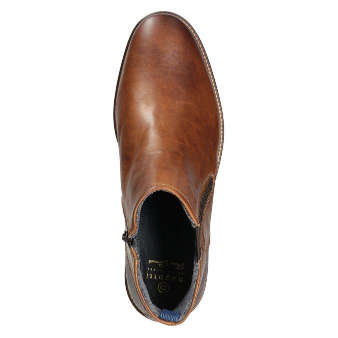 Pánská kožená kotníčková obuv bugatti, hnědá, 816-4044 - 15
