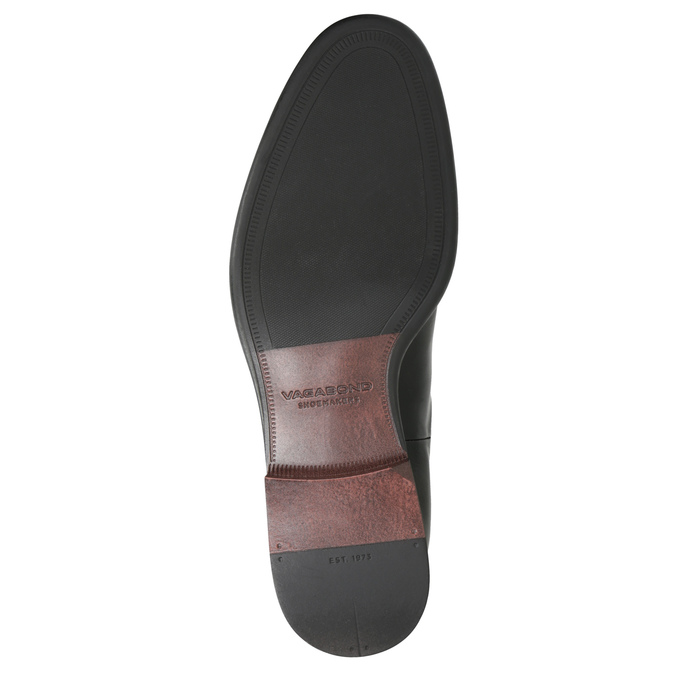 Pánská kožená Chelsea obuv vagabond, černá, 814-6024 - 17