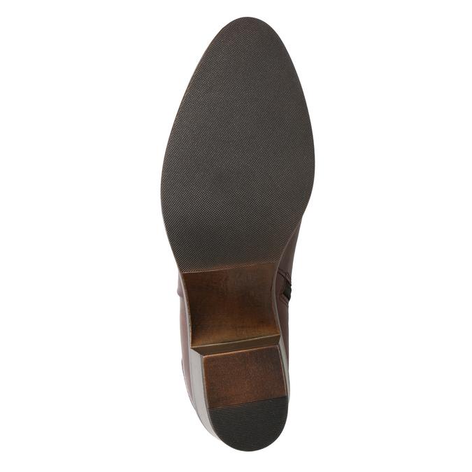 Kotníčkové kozačky na stabilním podpatku bata, hnědá, 696-4654 - 17