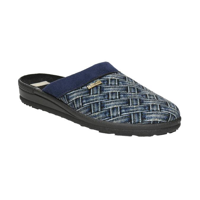 Pánská domácí obuv bata, modrá, 879-9611 - 13