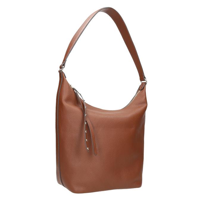 Kožená dámská kabelka bata, hnědá, 964-4274 - 13