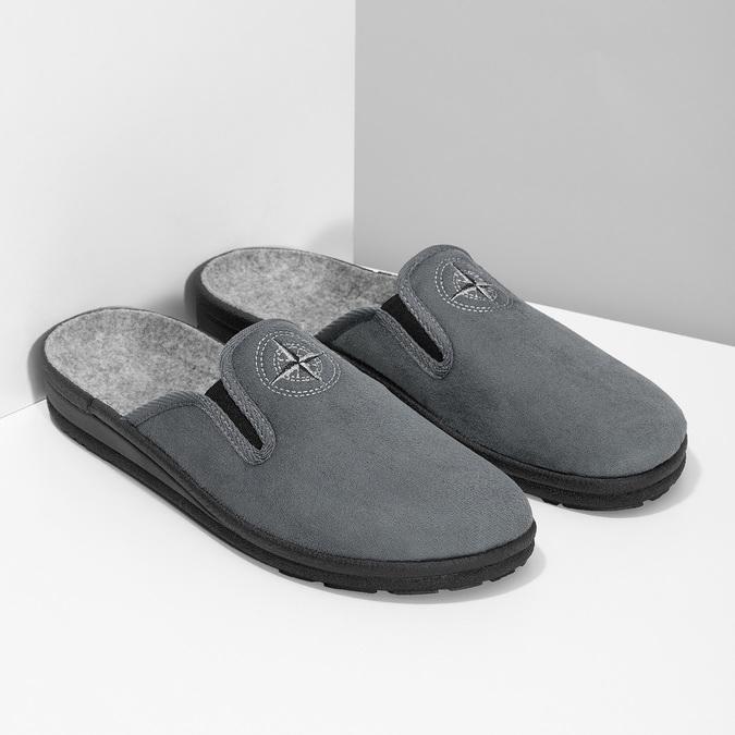 Pánská domácí obuv bata, šedá, 879-2610 - 26