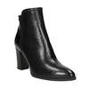 Dámská kožená kotníčková obuv bata, černá, 794-6650 - 13