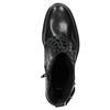 Kožená dámská kotníčková obuv bata, černá, 596-6680 - 15