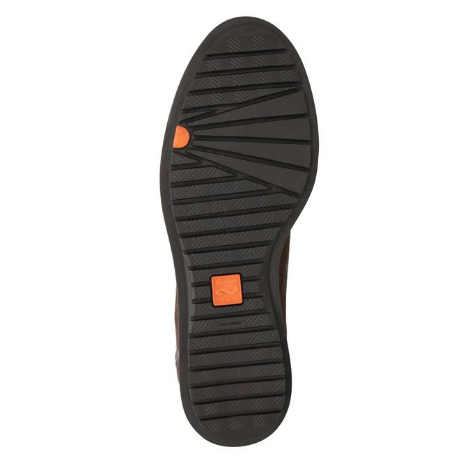 Kožená kotníčková obuv se zipem flexible, hnědá, 594-4227 - 17