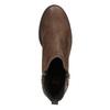 Kožená kotníčková obuv se zipem flexible, hnědá, 594-4227 - 15