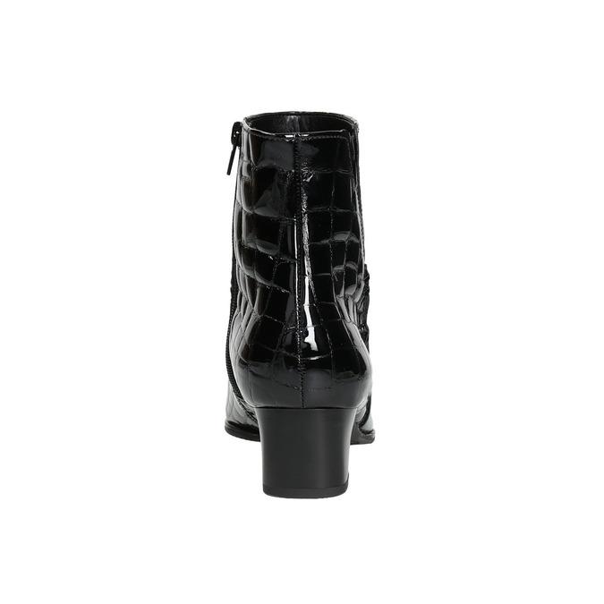 Lakované dámské kozačky gabor, černá, 618-6002 - 17