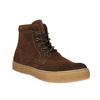 Hnědá kožená kotníčková obuv bata, hnědá, 843-3632 - 13