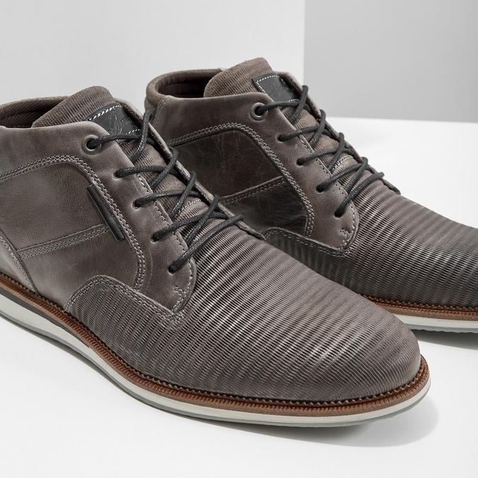 Kožená kotníčková obuv šedá bata, šedá, 826-2912 - 14