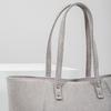 Béžová kabelka se stříbrnými detaily bata, šedá, 969-2669 - 14