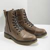 Kožená dámská kotníčková obuv bata, hnědá, 596-7681 - 18