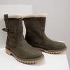Dámská zimní obuv s kožíškem weinbrenner, khaki, 594-2455 - 14